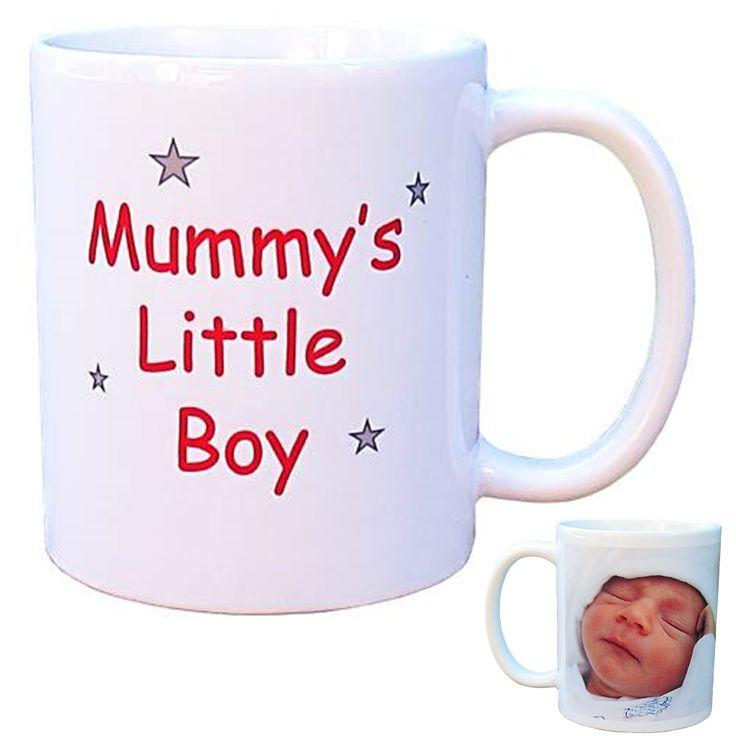 Personalised Photo Mug - Mum's/Mummy's Little Boy