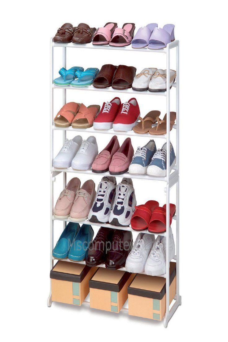 7 Tier Floor Standing Shoe Rack Up To 20 Pairs Storage Shoe Rack Storage Rack Shoes Stand