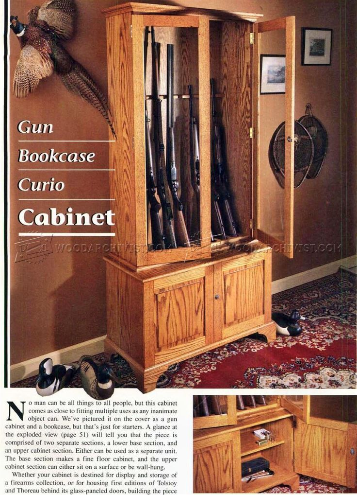 25+ unique Gun cabinet plans ideas on Pinterest ...