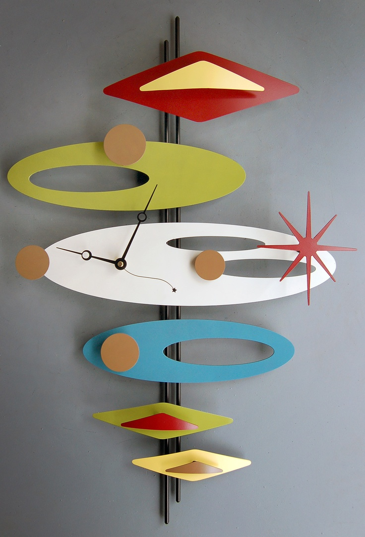 Retro styled clock by Steve Cambronne...i just love his styling.  http://stevecambronne.com/index.html
