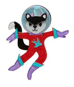 COSMIC KITTY BROOCH - Erstwilder - 'Goes Galactic'. cosmic 0539