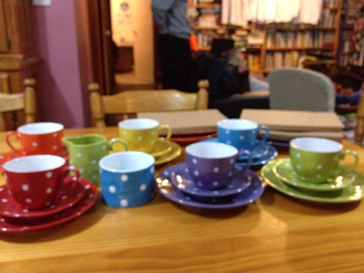 Colourful and cheery - Sprinkled tea set
