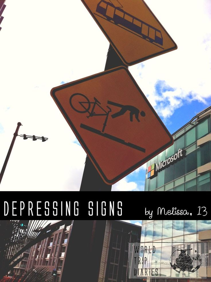 Melissa (13) shares the funny/weird/depressing signs she found on her travels - World Trip Diaries