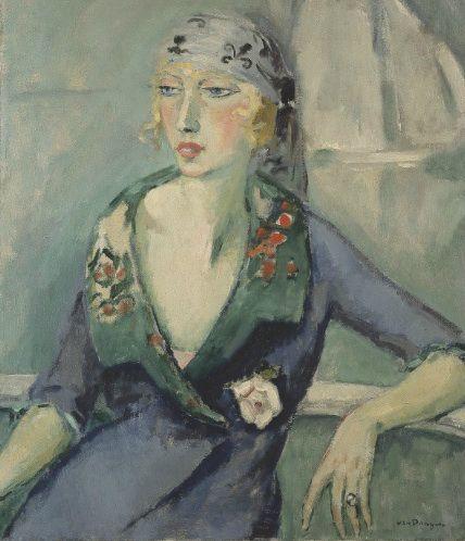 Kees van Dongen - La femme au foulard