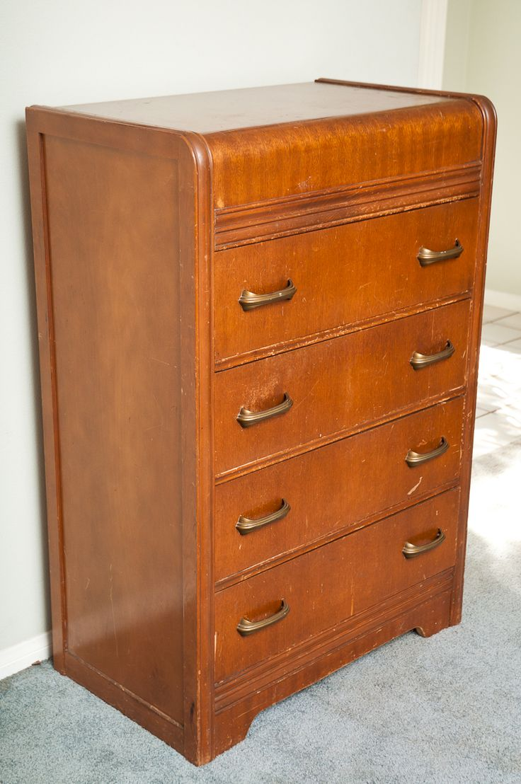 Vintage Waterfall Dresser 175 Painted Furniture