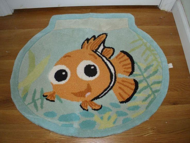 Htf Disney Hand Made Nemo Fish Bowl Accent Rug New Disney