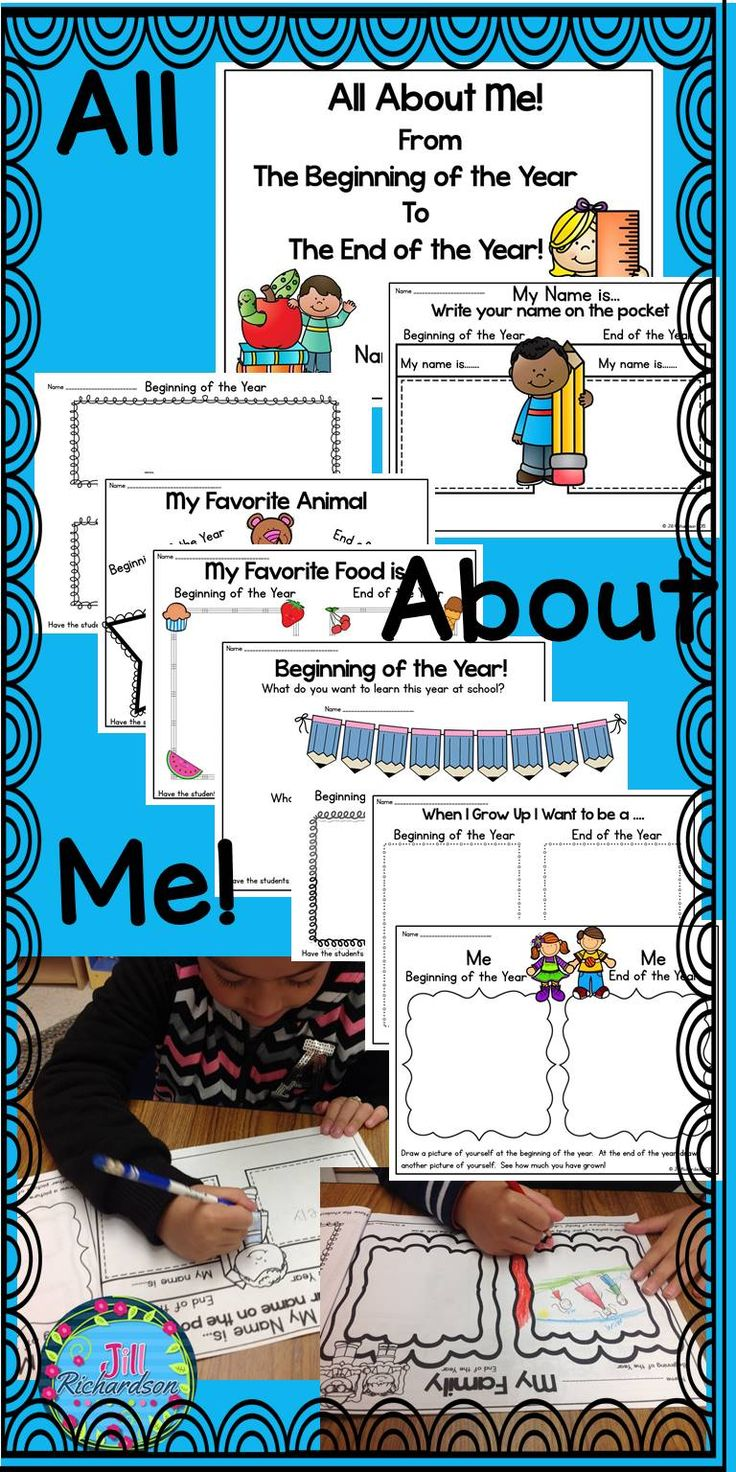 All About Me Booklet! This Back to School booklet will show how much your students have grown throughout the year. This is a wonderful gift at the end of the year for parents.Click above to watch video of this fun resource on store page!