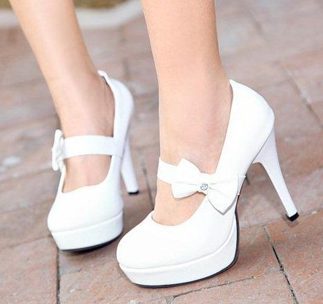 1000  ideas about White Wedding Heels on Pinterest  Wedding heels