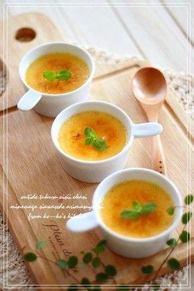 ~クレームブリュレ~   材料 (8cmココット5個分) 卵黄M4個(L3個) 牛乳150cc 生クリーム 150cc グラニュー糖 50g バニラビーンズ1/2本 リゼ用グラニュー糖お好みで