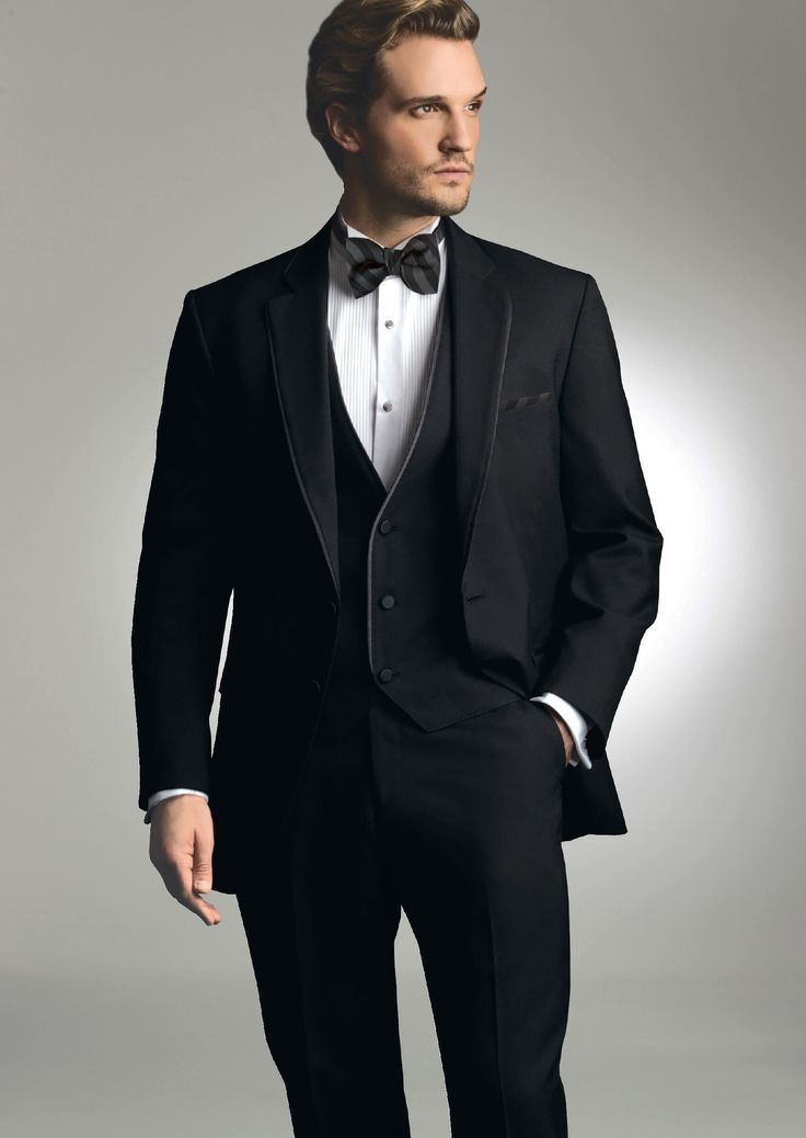 Black Bartlett Two Button Notch by Allure-Men - Tuxedos