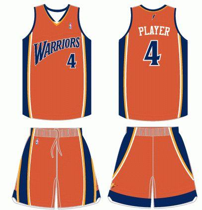 on sale c8732 df56b Golden State Warriors Alternate Uniform 2005-2010 | Golden ...