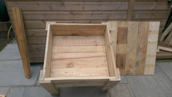 Pallet Sandbox With Lid Fun Crafts for Kids Pallets in The Garden