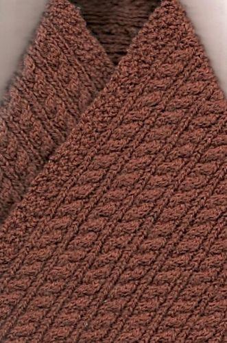 Scarf Pattern Using Alpaca Yarn Of Natural Color