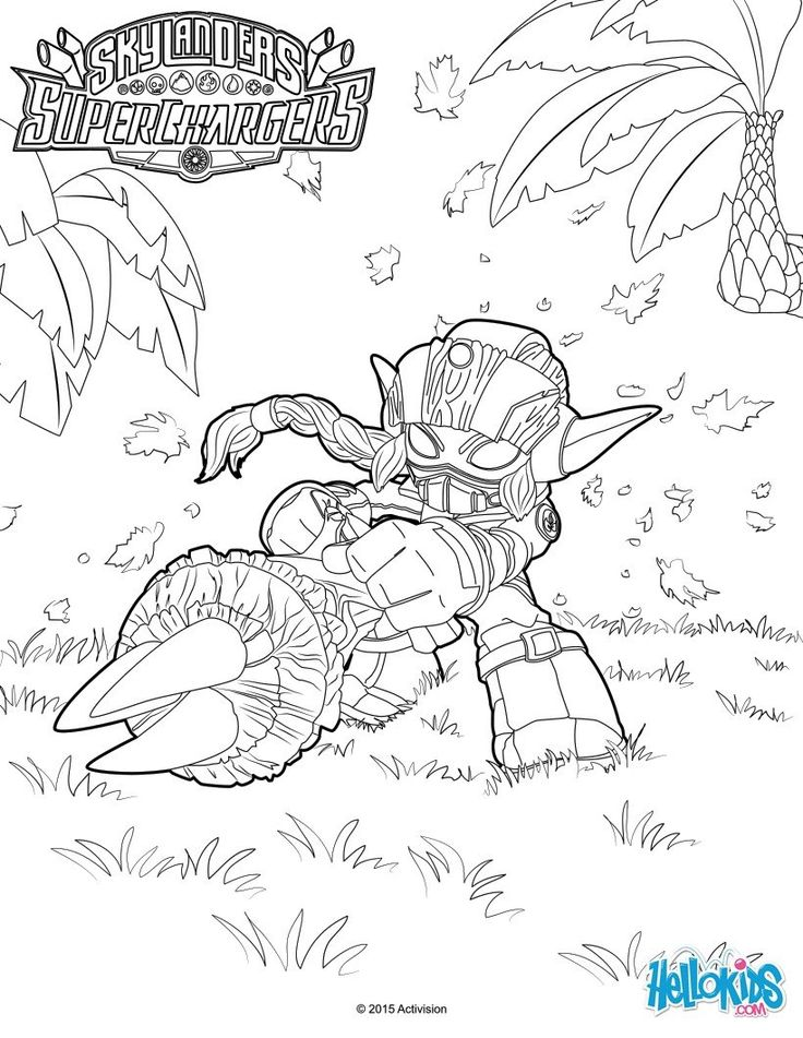 Stealth Elf Coloring Page From Skylanders Video Games More Content On Hellokids