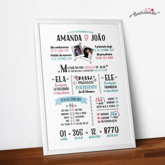 Poster Casal Namoro Arquivo Digital Para Imprimir Em 2020