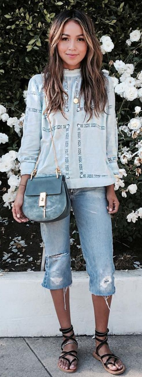 Shades Of Blue Springy Outfit                                                                             Source