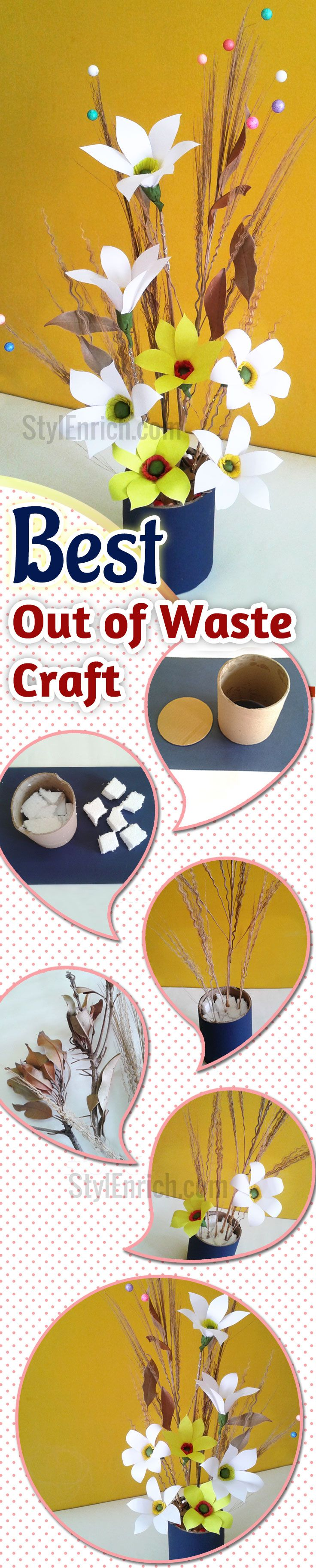 49 best images about best out of waste on pinterest for Handicraft from waste things