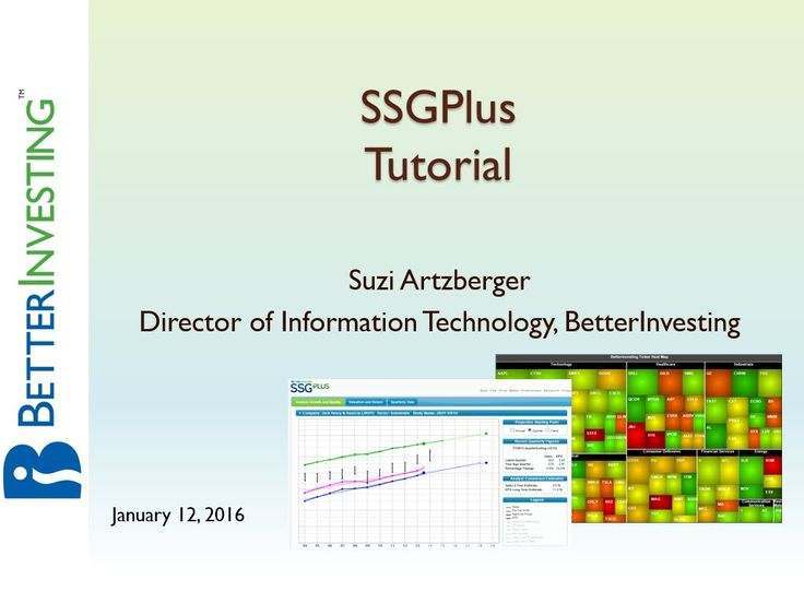 SSGPlus Stock Analysis Tool Tutorial Better Investing