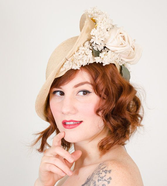 RESERVED / 1920s vintage hat / straw cloche / by PoppycockVintage