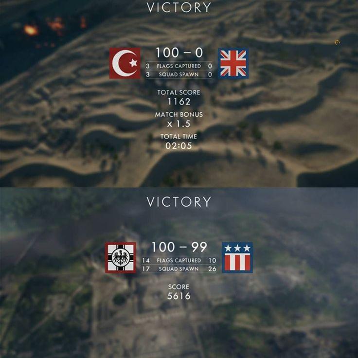 A tale of two games..... #battlefield #battlefield1 #bf1 #domination #greenxboxboy #xbox #xboxone #xboxlive #ea #dice #closecall #winning #winner