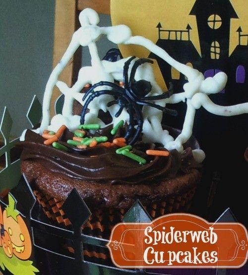 Coca Cola Spiderweb Cupcakes