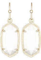 Kendra Scott Lauren Dangle Drop Gold Earrings in Crushed Ivory from $47.99 by Amazon BESTSELLERS