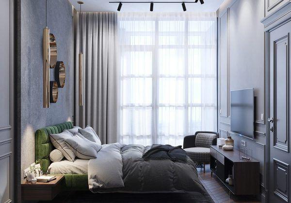 Intensives neoklassizistisches Interieur mit kobalt- und smaragdfarbenen Akzenten #Accents …  – Styles : New Classic interior