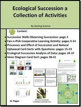 Ecological Succession a Collection of Activities Students will enjoy learning when participating in the following activities:  •Succession Walk Engage Activity-Observing Succession •Fan-n-Pick Cooperative Learning Activity •Processes and Effect of Succession and Natural Upheaval Card Sorts  •Ecological Succession an Analysis of Data •Venn Diagram-Card Sort