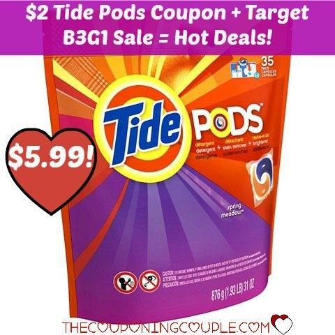 PRINT NOW FOR A HOT SALE! $2/1 Tide Pods coupon + B3G1 Free sale at Target means you can get a HOT DEAL!!  Click the link below to get all of the details ► http://www.thecouponingcouple.com/2-tide-pods-coupon-target-b3g1-sale-hot-price/  #Coupons #Couponing #CouponCommunity  Visit us at http://www.thecouponingcouple.com for more great posts!