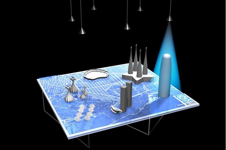 Barcelona, Render, 3D de Guernik Empresa Barcelona Blur