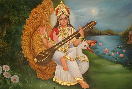 goddess saraswati paintings - Google Search