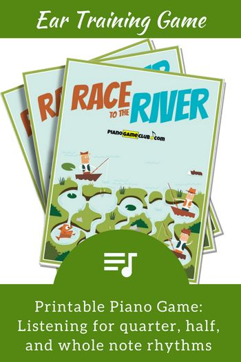 Ear Training made fun! Students race to escape to the river in this easy-to-play game that reinforces rhythmic understanding. Available until July 30th, 2017 at www.pianogameclub.com.