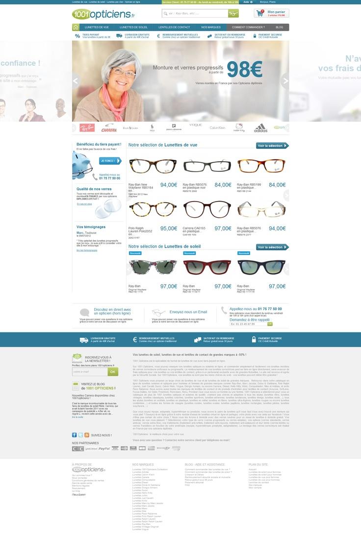 1001 Opticiens - #Prestashop by #NewQuest