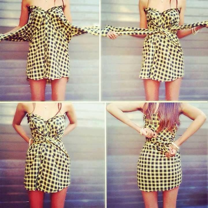 Hemd Kleid