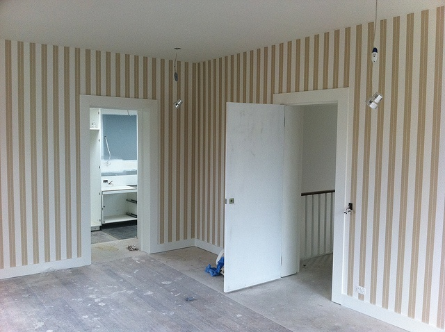 Stripes hung by Aidan Griffin at Cutting Edge Wallpapering