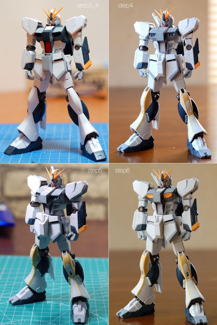 HGUC νガンダム RollOut kentaの気まぐれのんびり日記 Gundam tutorial