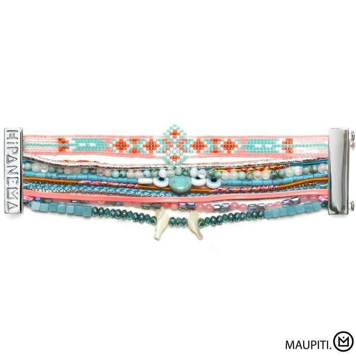 Bracelet Maupiti Hipanema collection été 2015 - à retrouver sur www.lilishopping.com/fr/ - #summer #hipanema #bracelet #manchette #cuff #holiday #coquillages #perles #liens