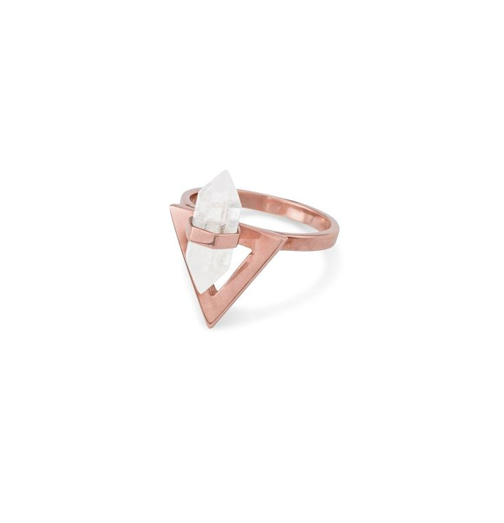 Krystle Knight - Radiant Triangle Ring - Rose Gold