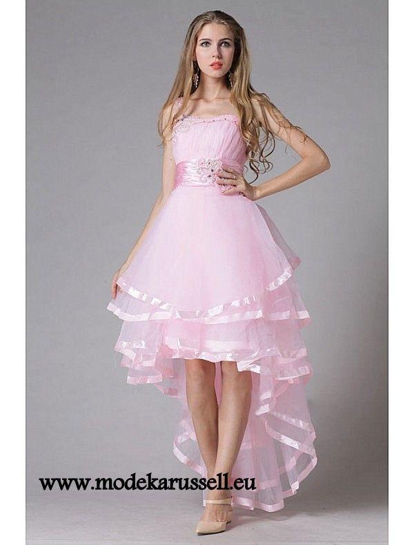 Elegantes Vokuhila Abendkleid in Rosa