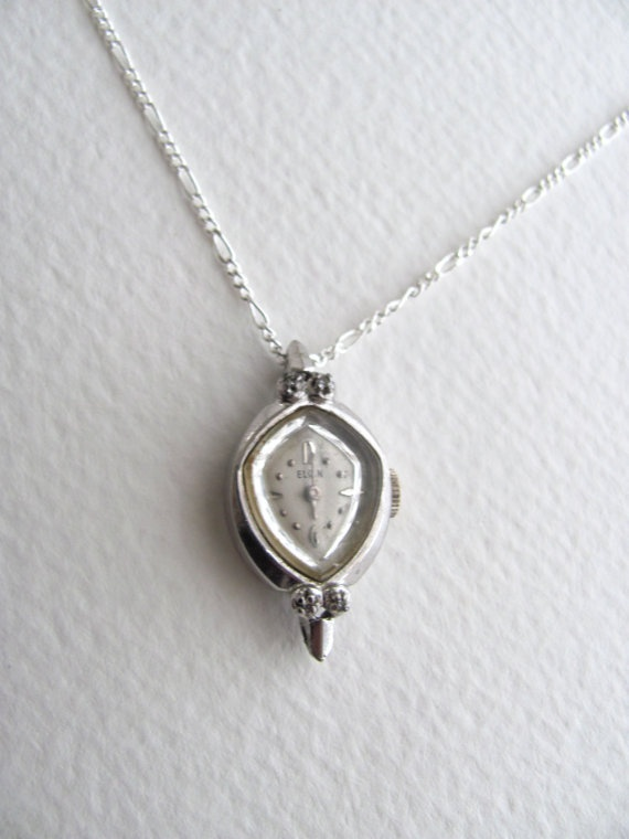 201 best elgin watches images on pinterest antique watches clocks gorgeous vintage elgin watch pendant necklace by mysocalledvintage 6800 aloadofball Gallery