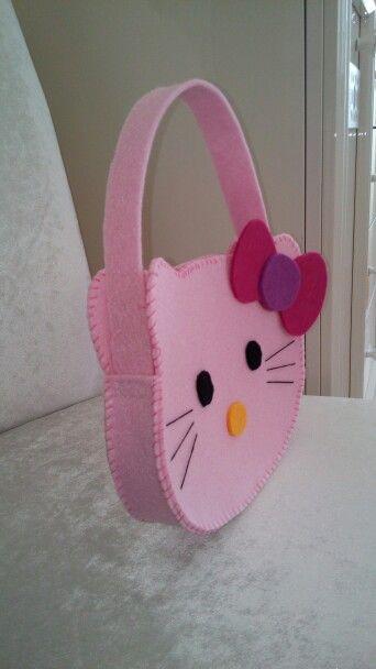 Hellokitty keçe çocuk çantası