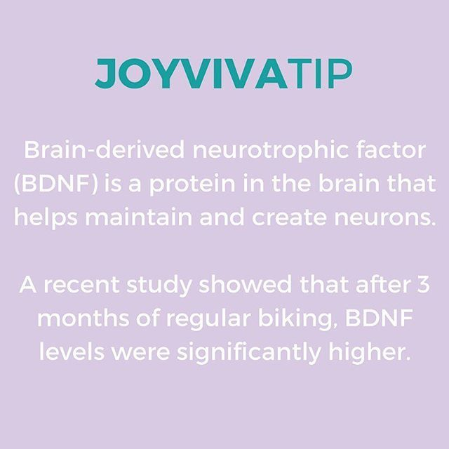 Joyviva Tip: Get on the road and bike as much as possible. Not only is cycling good for your physical health, it's also amazing for brain functioning as it increases the necessary brain protein BDNF. 💡 We wrote about all the brain benefits of biking on the blog. Read with link in bio! #biking #brainboost #happyfriday
