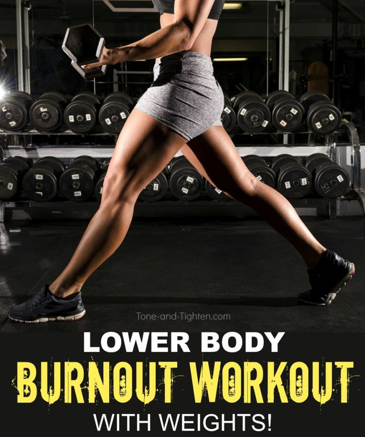 Sculpt amazing leg definition at home with this awesome burner workout with dumbbells! From Tone-and-Tighten.com