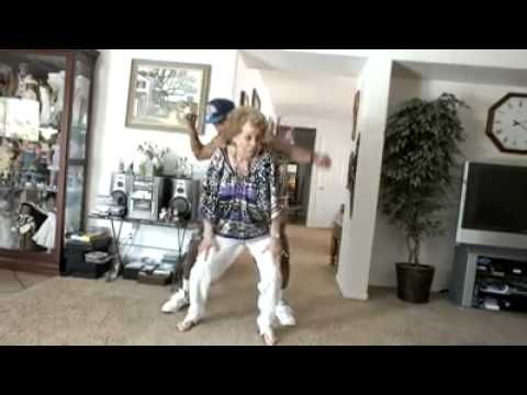 82 Year Old Grandma Yiking Red Nose Dance With Her Grandson - YouTube
