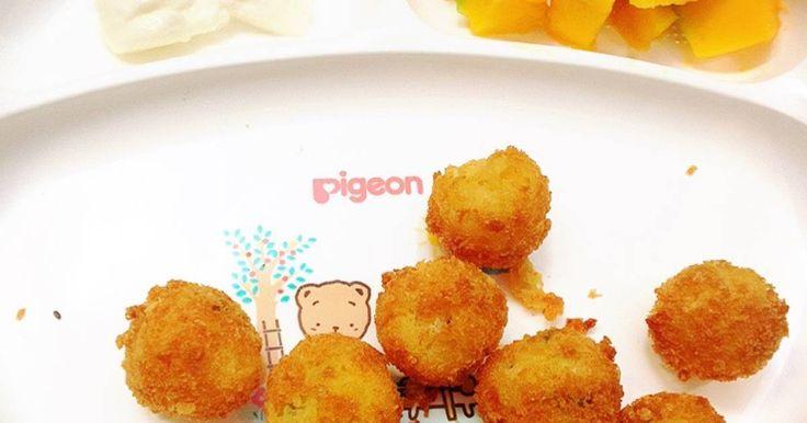 Resep MPASI (11M+) Potato Salmon Miniballs