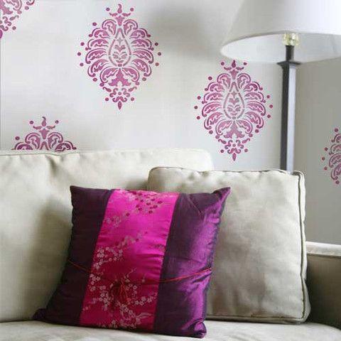.: Paisley Motif, Prints Patterns, Wall Stencil, Paisley Stencil, Wall Paintings, Motif Stencil, Bombay Paisley, Royals Design, Design Studios