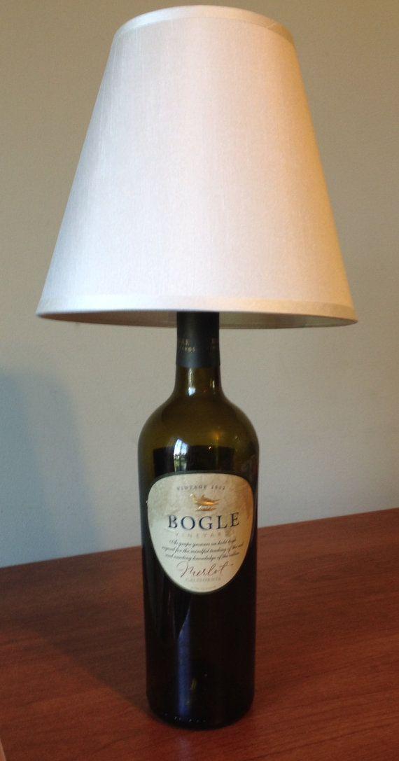 Bogle Merlot Wine Bottle Table Lamp Light Small by LampsbyLamp