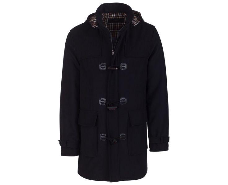 """Ανδρικό Παλτό Μοντγκόμερι """"Gomer"""" σε μαύρο χρώμα  Σύνθεση: 80% Μαλλί & 20% Πολυεστέρας"""
