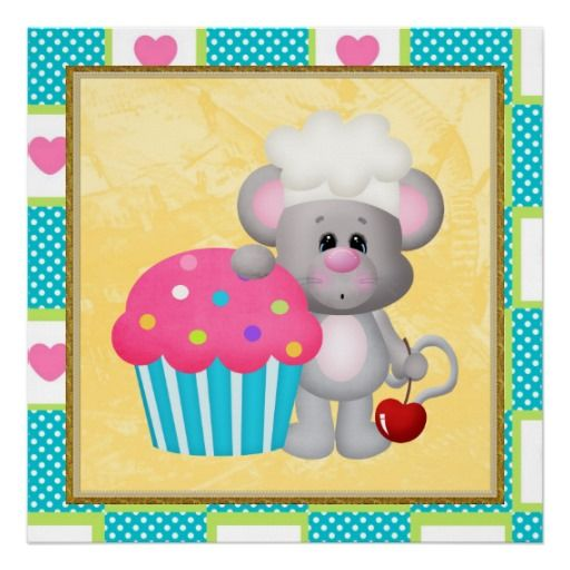 Cupcake Mouse Poster