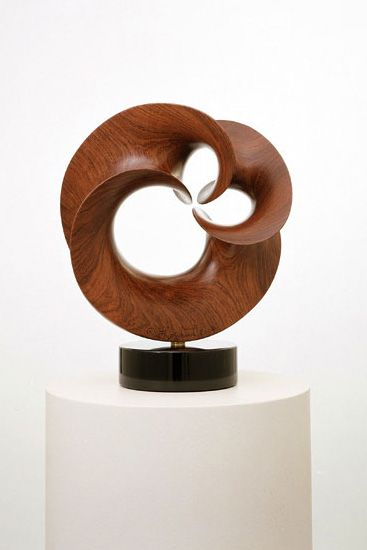Robert Longhurst, Arabesque XLI. Minimal surfaces rendered in wood.